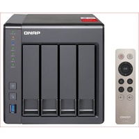 QNAP TS-451+-2G, 4-Bay NAS, Intel Celeron Quad-Core 2.0GHz (up to 2.42GHz), 2GB DDR3L RAM (max 8GB), SATA 6Gb/s, 2 x GbE,