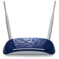 TP-LINK TD-W8960N 300MBPS  4-PORT WIRELESS N ADSL2+ MODEM ROUTER, BROADCOM CHIPSET, 2.4GHZ, 802.11N/G/B, ADSL2+, ANNEX A, 2 DETACHABLE ANTENNAS