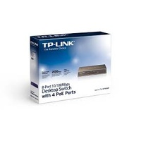 TP-LINK TL-SF1008P 8-PORT 10/100M POE SWITCH, 8 10/100M RJ45 PORTS INCLUDING 4 POE PORTS, STEEL CASE