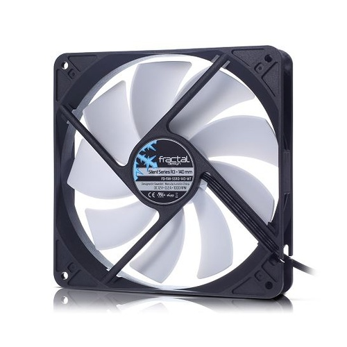 FRACTAL SILENT SERIES R3 COMPUTER FAN 92MM - WHITE BLADES [BUY 2-10%OFF, 3-15% OFF TOTAL]